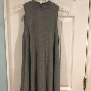 TOPSHOP high neck gray dress